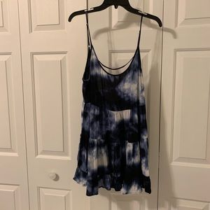 like new brandy melville blue tie dye jada dress